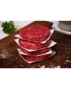 Beef burgers, 4 pack
