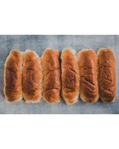 Baker Tom Glazed Hot Dog Roll 6pk