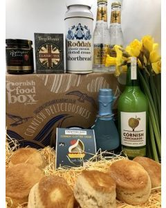Cornish Cream Tea Box & Artisan Cornish Gin Hamper